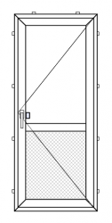 PVC outward opening balcony door