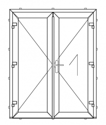 PVC outward opening double balcony door (STRONG TYPE - RECOMMENDED)